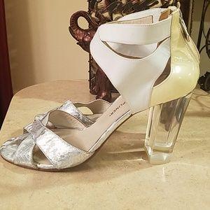 Donald Pliner Manda Lucite heels side 8.5